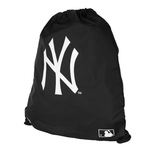 NEW ERA NEW YORK YANKEES DRAWSTRING BAG.MLB BLACK GYM PE BASEBALL SHOE SACK.9S